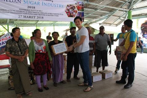 CSR 2018 - Penyerahan bantuan kepada korban erupsi gunung sinabung di desa tanjung mbelang